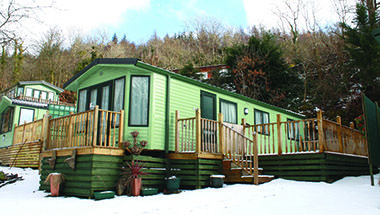 Static Caravan in winter
