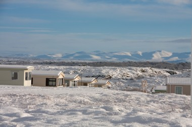 Holiday park in the snow