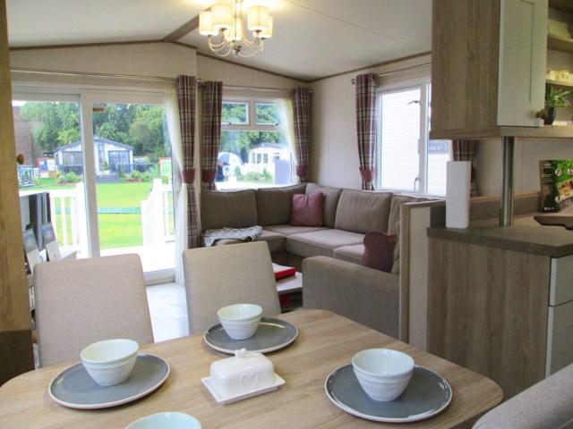 ABI St David static caravan Lounge & Patio Doors