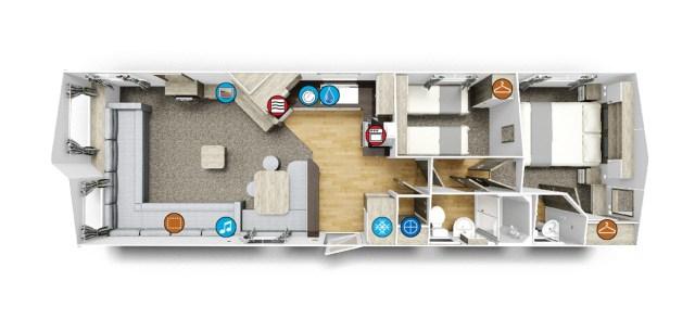 Willerby Skye floor plan