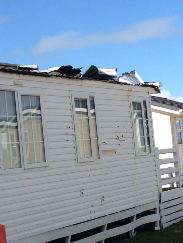 static caravan storm damage