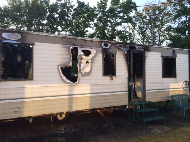 static caravan insurance claim for fire