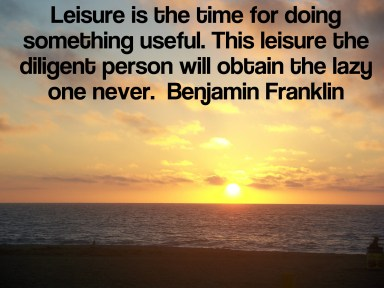 Ben Franklin understood- Home page Leisure Freak, retire early and often through frugal living