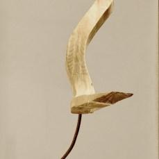 Cabiró de fusta i perfil metàl·lic de rebuig 55 x 70 x 105 cm