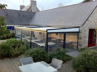 Terrasse couverte et chauffée - Le Jardin de l\'Aber
