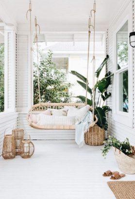 beaux fauteuils suspendus pour la terrasse