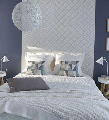papier peint en tete de lit
