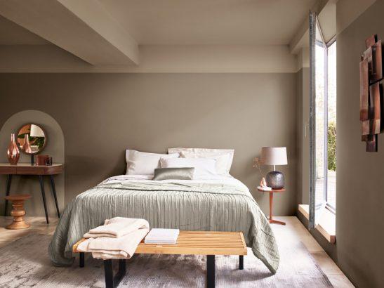 couleur terre d argile dans la chambre