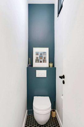 pour agrandir visuellement les toilettes