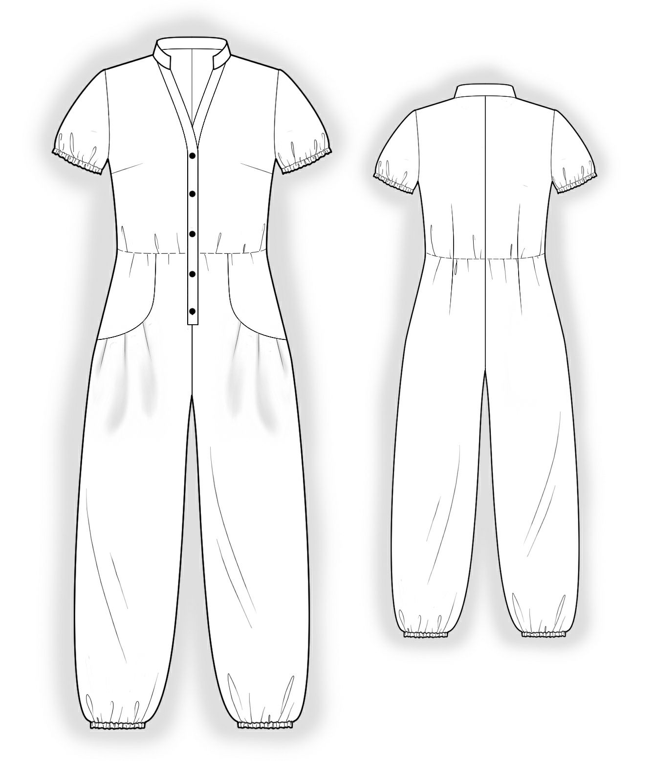 Jumpsuit With Decorative Pockets