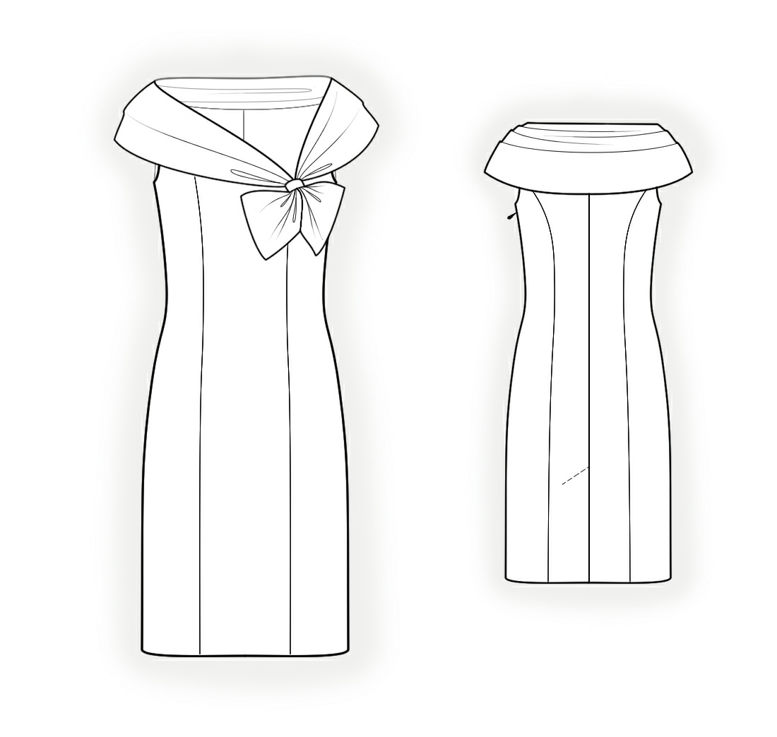 Dress With Wide Collar