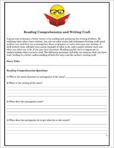 Reading Comprehension and Writing Craft