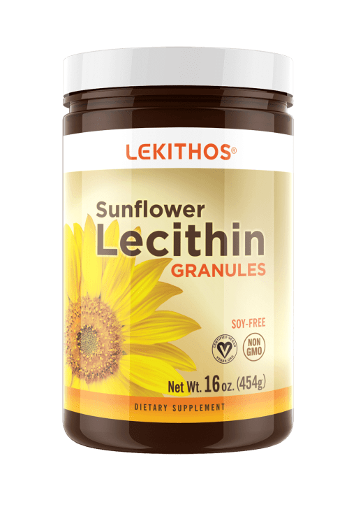 Lekithos® Deoiled Sunflower Lecithin Granules - 16 oz - Rich in Choline, Non-GMO, Vegan
