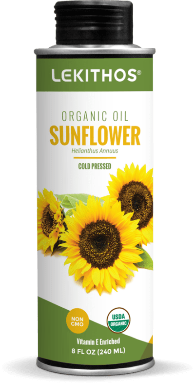 8oz Organic Sunflower Oil by Lekithos