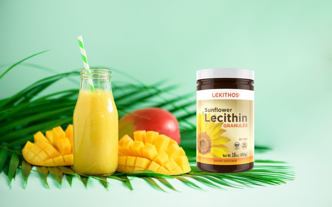Mango Smoothie with Sunflower Lecithin Powder