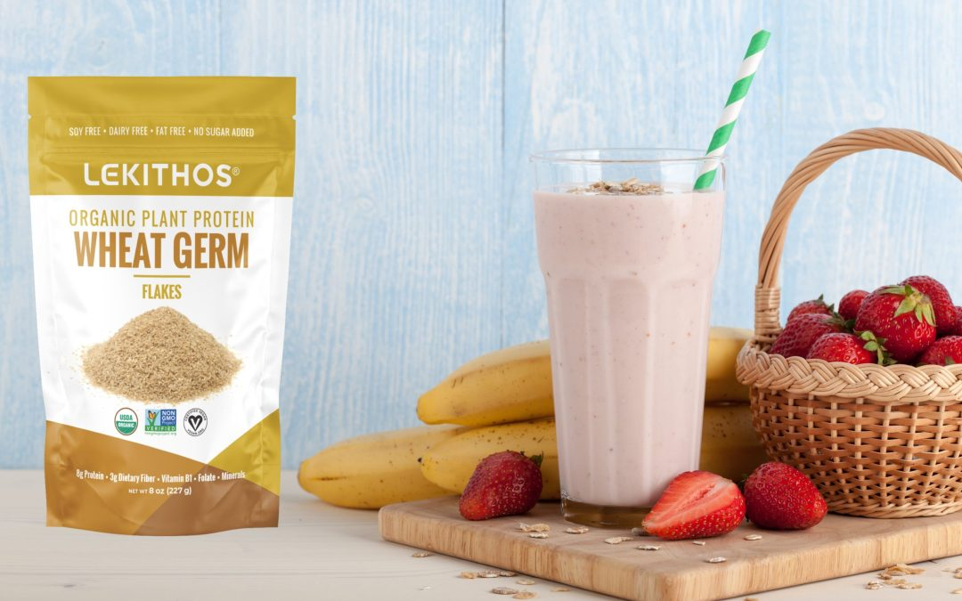 Strawberry Banana Smoothie with Wheat Germ