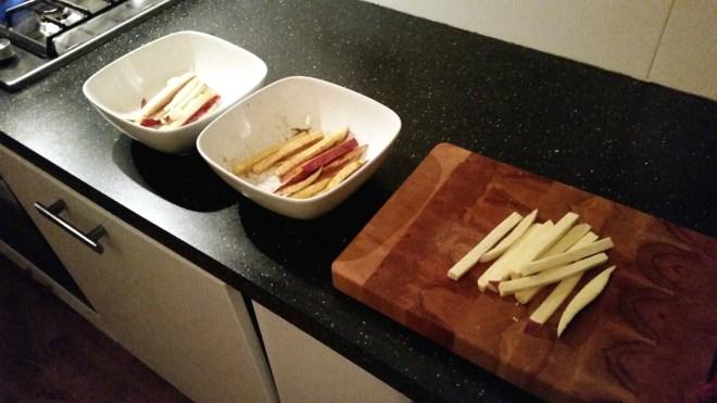 drie varianten zoete aardappelen