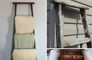 antique blanket rack ladder