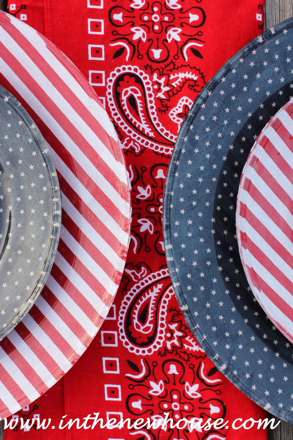 DIY Patriotic Dishes
