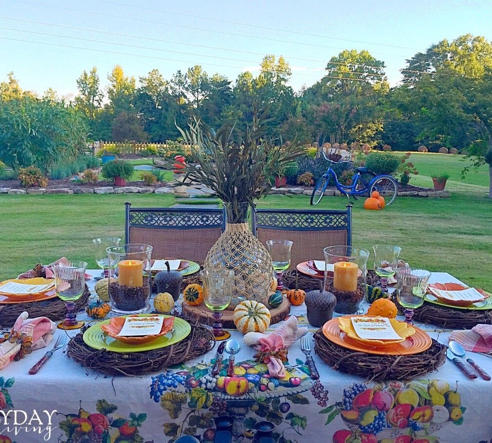 Taste Of Autumn Alfresco Tablescape – Guest Post By Pam