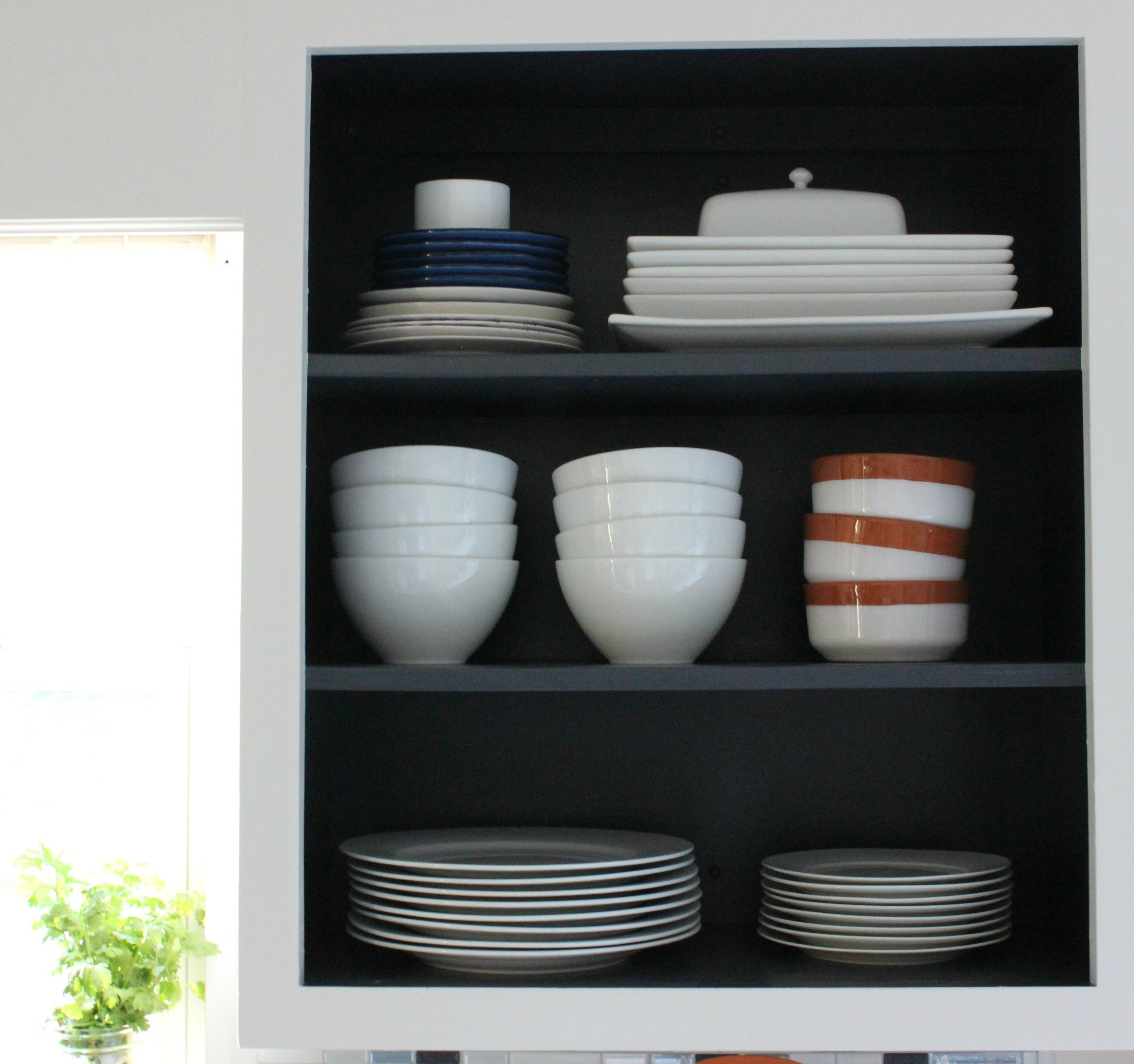 How To Create Open Shelving With Existing Upper Cabinets Organized Ish By Lela Burris