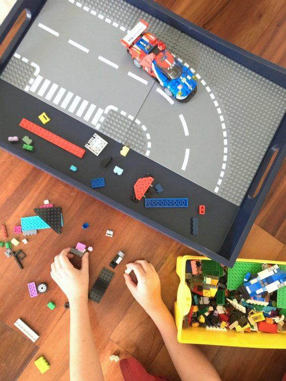DIY Lego Tray made from old water damaged lap tray