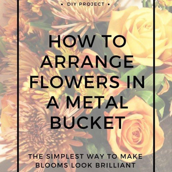 industrial style flower arrangement