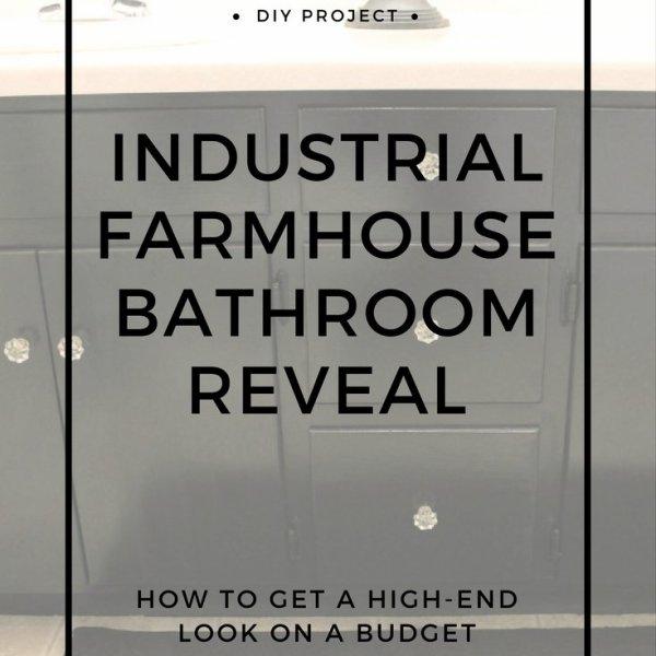 farmhouse indystrial bathroom decorating