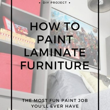 painting laminate furniture tutorial
