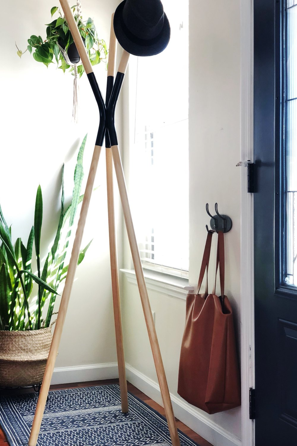 house plants entryway styling
