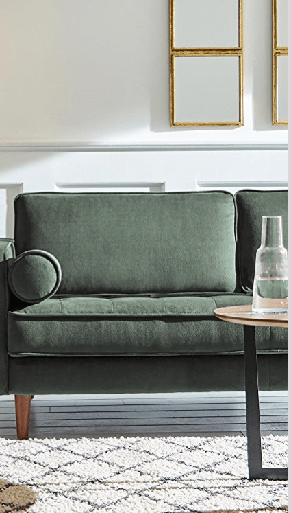 amazon rivet green couch