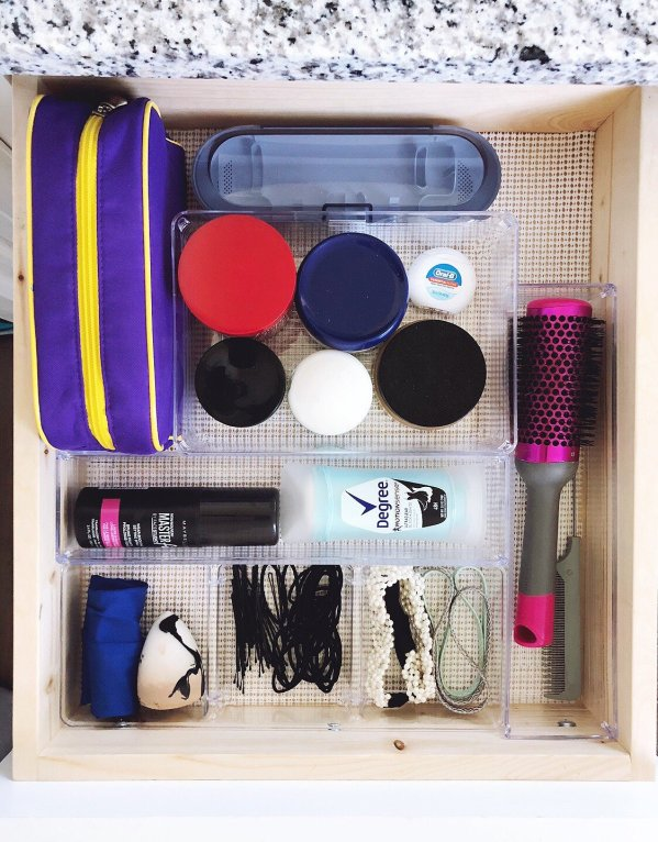 bathroom drawer clear organizers