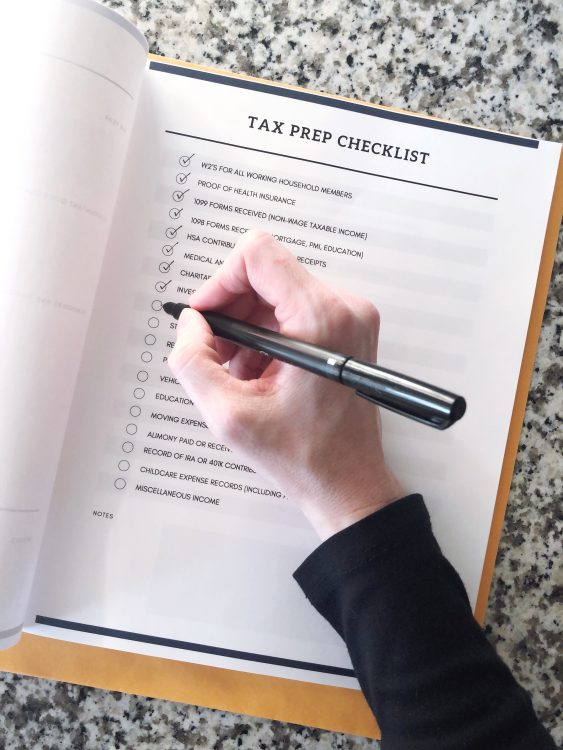 printable tax prep kit