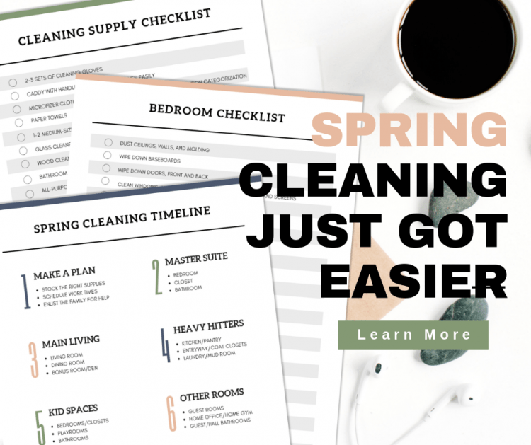 spring cleaning planner and worksheets by