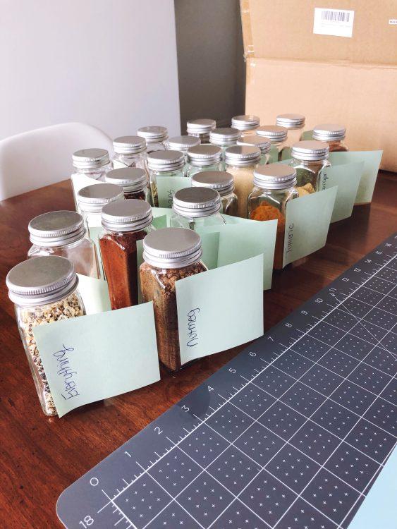 Cricut labels for spice jars