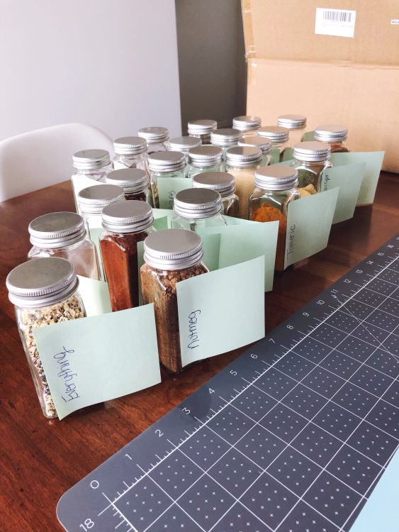 Cricut labels for spice jars