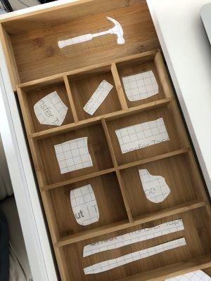 Cricut Drawer Organizer labels by Lela Burris