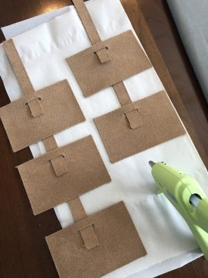 diy leather tags for baskets with Cricut Maker