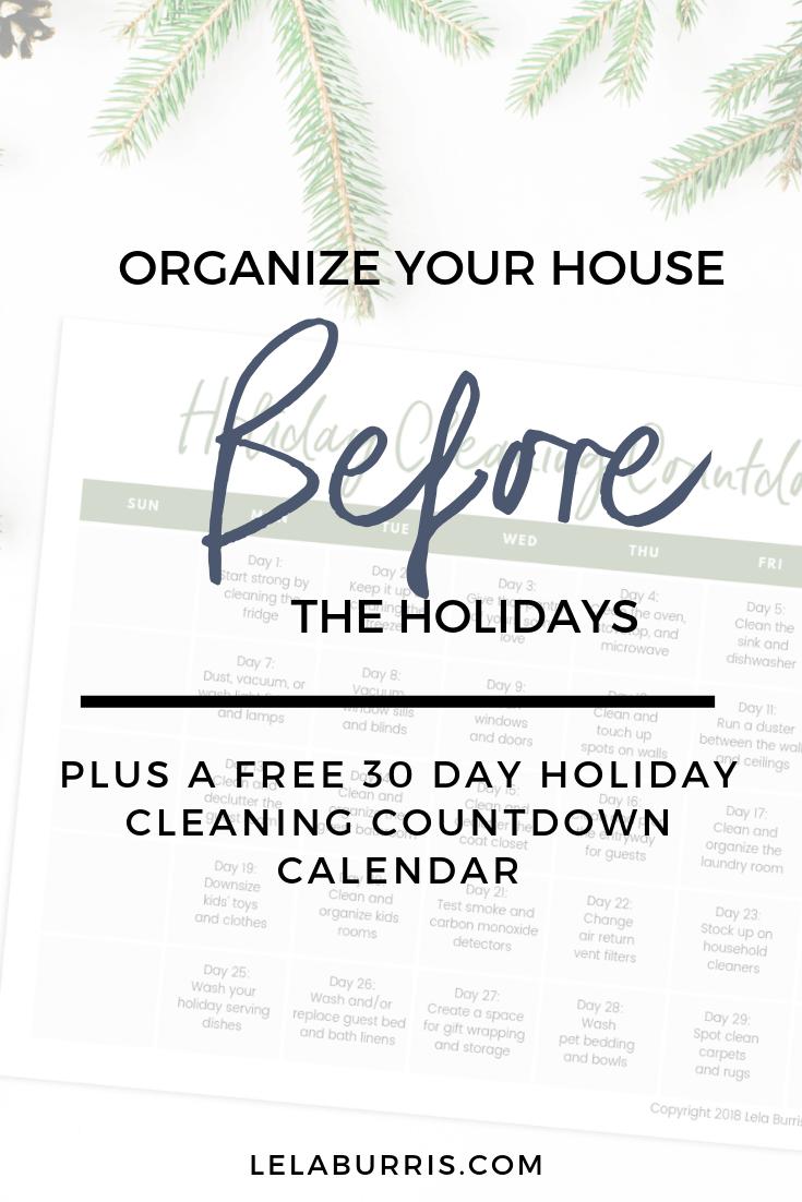 organize house before holidays