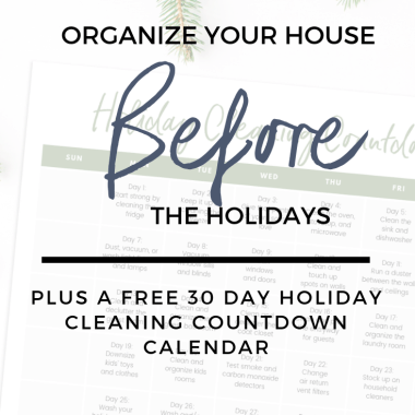 organize house before holidays