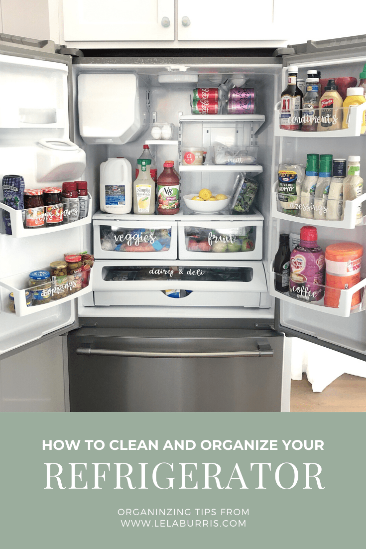 how to organize and clean a refrigerator