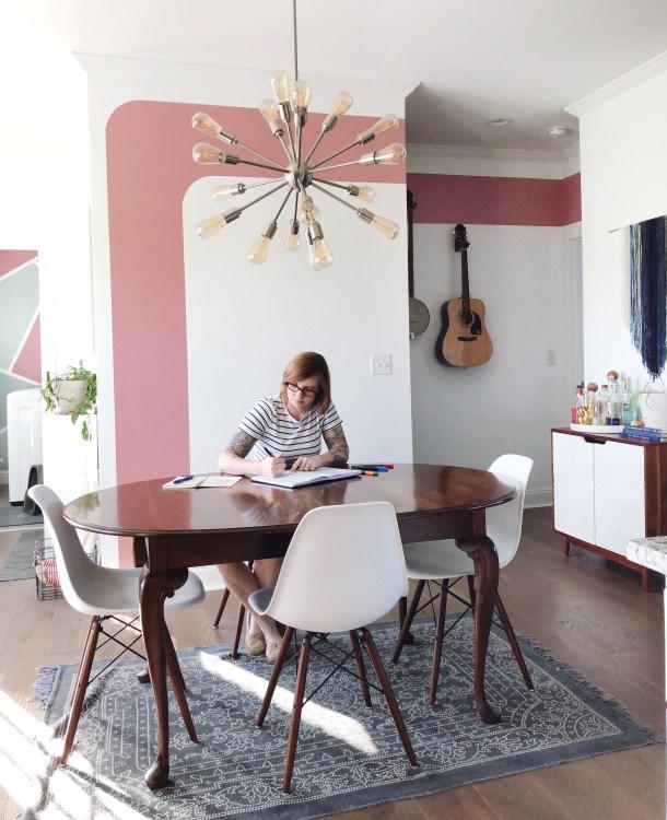 modern paint accent wall minimal
