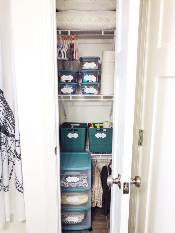 guest linen closet