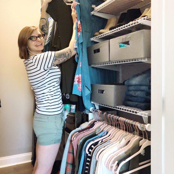 small closet organization tips from Lela Burris