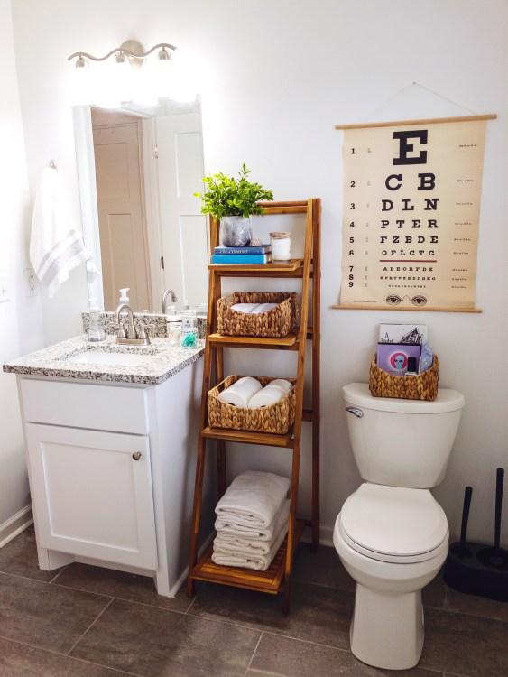 small guest bathroom storage