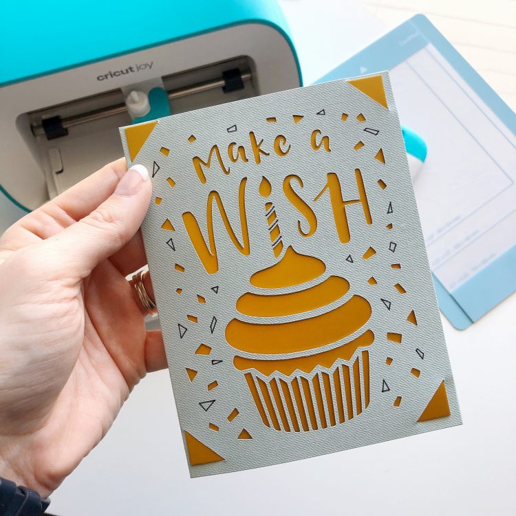 easy Cricut Joy birthday card