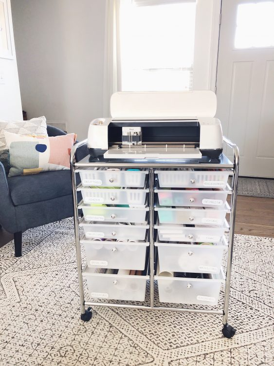 cricut cart organization tips