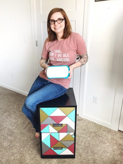 Cricut Joy filing cabinet makeover by Lela Burris