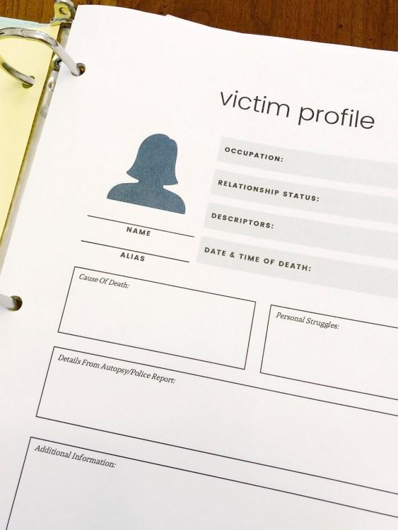 hunt a killer printable victim profile