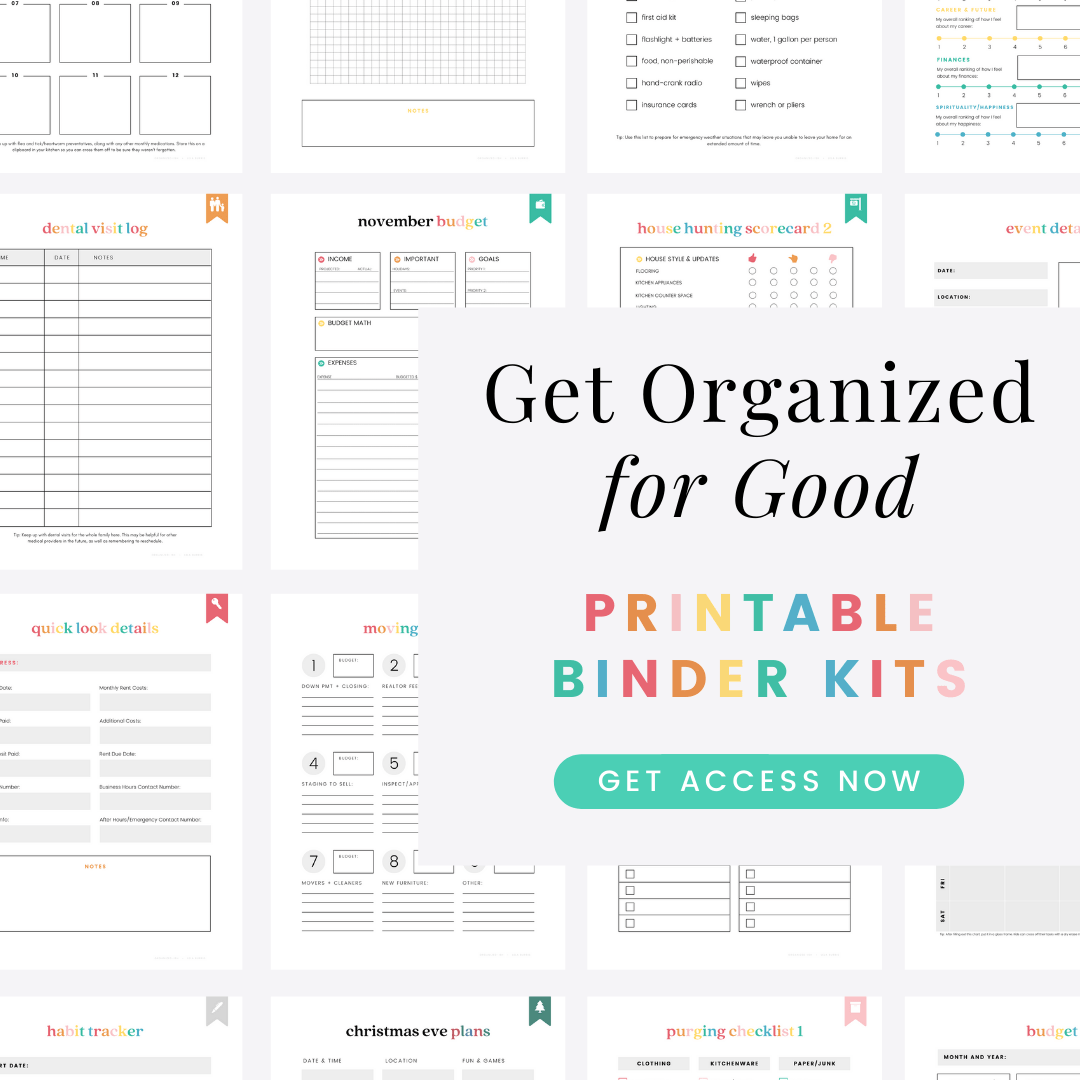 printable planners for home organization
